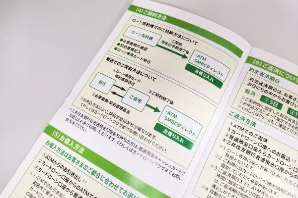 三井住友銀行カードローン契約の流れ