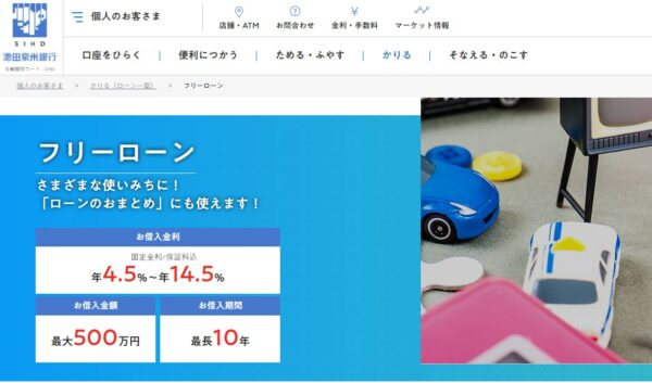 池田泉州銀行おまとめローン
