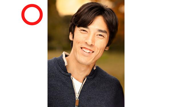 笑顔の男性プロフィール写真