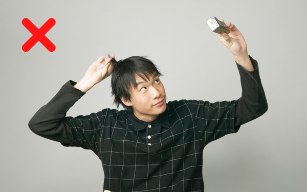 自撮り写真の男性