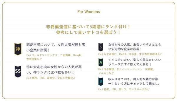 フェリ恋 恋愛四季報企業ランク